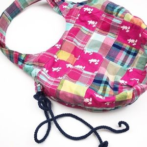 Disney Girl's Mickey Mouse Plaid Tote